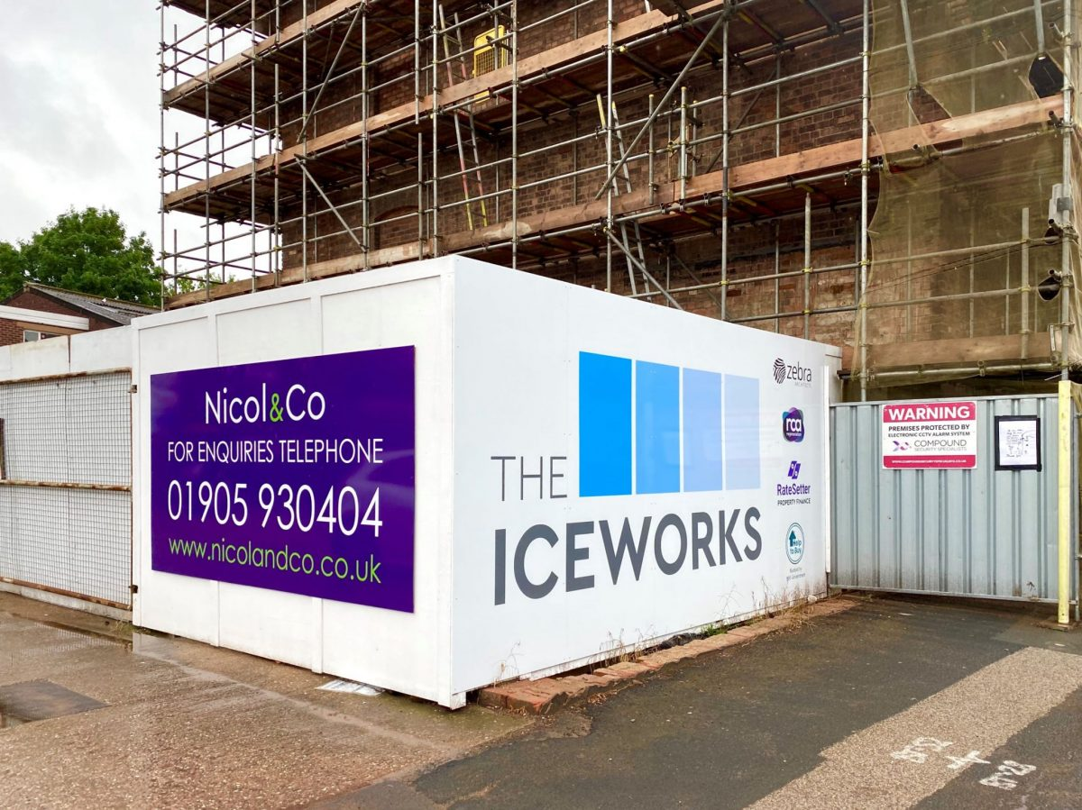 £1 million plus of Worcester's Iceworks apartments sold – with 80% using 'Help to Buy' scheme